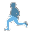 man running fitness vector image