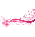 plumeria pink wave vector image vector image