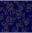 starry firework seamless pattern vector image