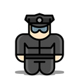 policeman toy icons vector image