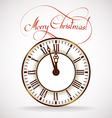 Christmas time clock vector image