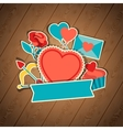 Valentines and Wedding background vector image
