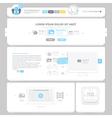 Communication web design elements vector image vector image