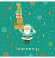 Christmas card with Santa vector image vector image