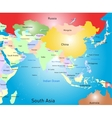 south asia map vector image vector image
