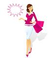 shopping woman vector image vector image