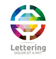 Abstract Logo Lettering S Rainbow Alphabet Design vector image