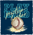 PLAY BASEBALL vector image