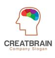 Creative Mind brain Design vector image