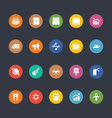 Glyphs Colored Icons 32 vector image