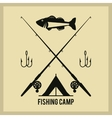 Fishing graphic design vector image