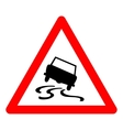 triangle traffic sign for slippery road vector image