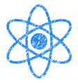 atom grunge icon vector image