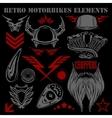 Design elements on black background for vintage vector image