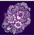 Ethnic flower ornament vector image