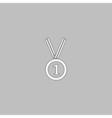 gold medal computer symbol vector image