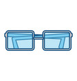 isolated study glasses vector image