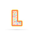 letter l with group of dots icon sign vector image