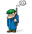 mafia man vector image