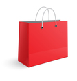 Red paper shopping bag isolated vector image