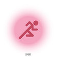 Sport sign Running red man vector image