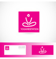 Yoga meditation pose logo vector image