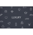 Luxury Thin Line Icons vector image