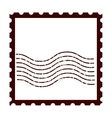 postal stamp classic isolated icon vector image