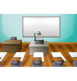 An empty classroom vector image vector image