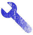 wrench grunge textured icon vector image