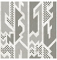monochrome cloth pattern with grunge effect vector image vector image