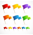 Collection of different color flags vector image vector image