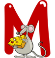 M for mouse Vector Image
