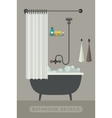 Bathroom interior with bath vector image