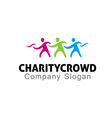 Charity Crowd Design vector image