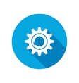 Gear icon Cogwheel symbol Round circle flat icon vector image