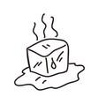 ice cube melting vector image