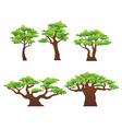 oak trees vector image