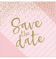 Save the date hand drawn with confetti Pink and vector image