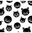 seamless pattern cute animals face image vector image