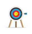 target arrow and bullseye symbol vector image
