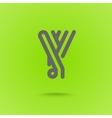 Y Letter Y type line shape Y Line Logo Design vector image