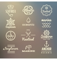 Vintage marine nautical navy labels vector image