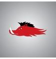 Wild Fire Hog head Mascot sport team logo vector image