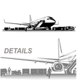 airplane on aerodrome vector image