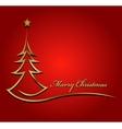 Beauty Christmas tree background vector image