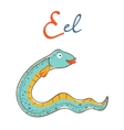 E is for Eel vector image