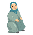 Old Woman Siting vector image