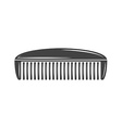 Simple comb barber Black icon logo element flat vector image