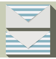 Striped business card set vector image
